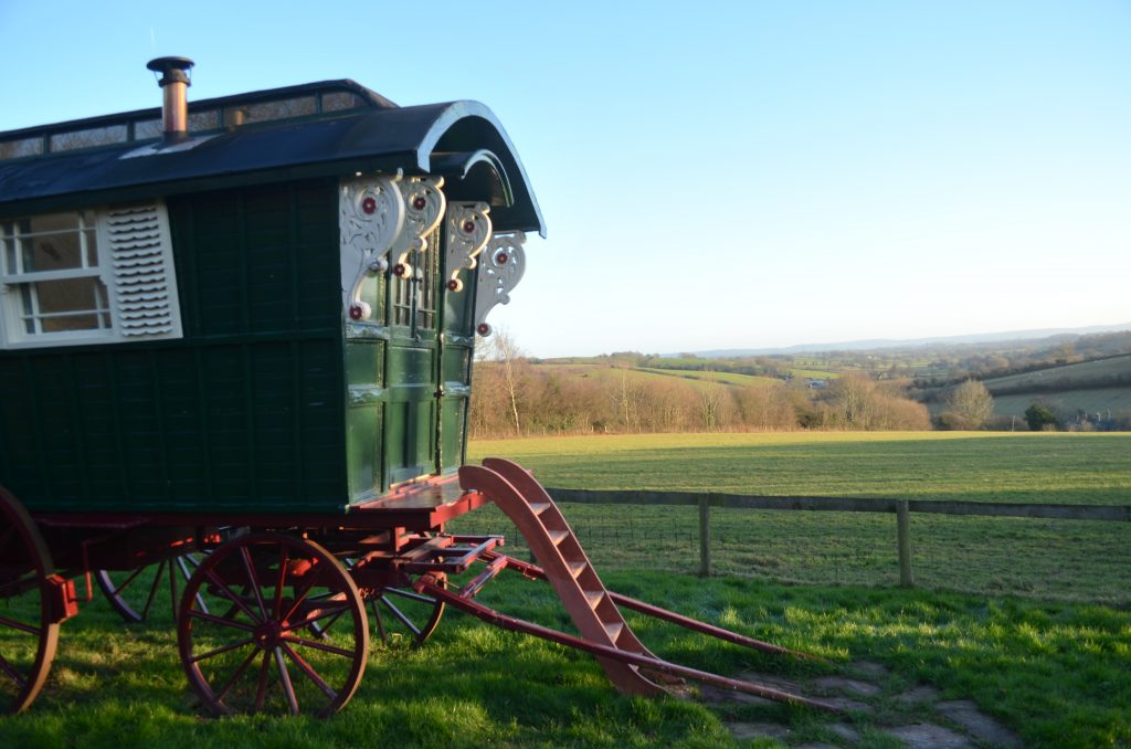 A little caravan you can stay in on the farm