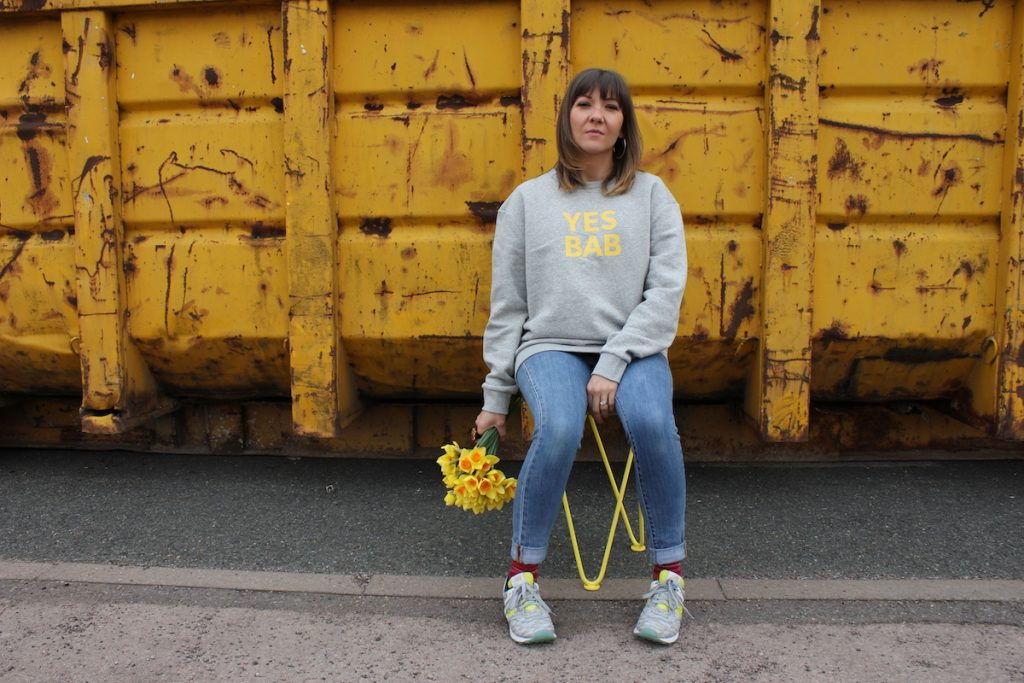 Ethical women's clothing | Punks and Chancers Yes Bab jumper