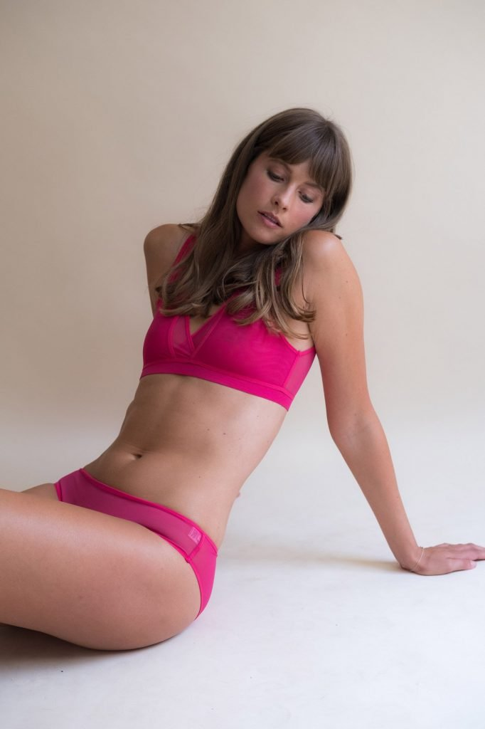 Ethical women's clothing | Bright Pink underwear Luva Huva